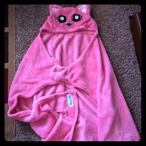 Pink kitty cat Snuggie. Made for kids.
